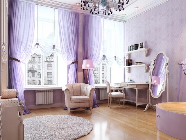 Màu tím Lavender cũng được pha chút trắng. Vì vậy, màu sắc này nhẹ hơn và lan truyền ánh sáng cùng cảm giác mát mẻ tốt hơn màu tím nguyên bản.