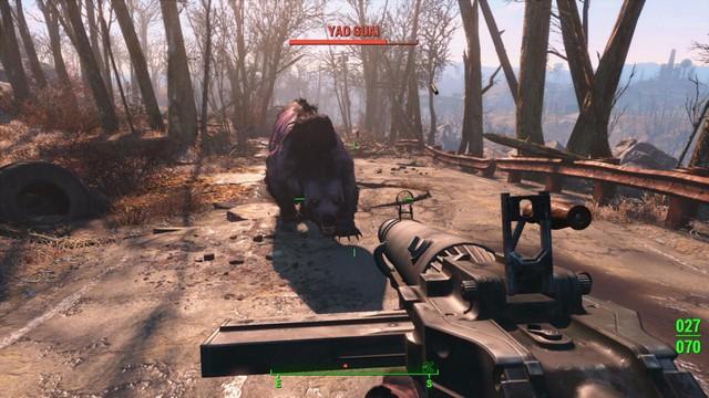 Đồ họa của Fallout 4 tỏ ra hơi lép vế so với những tựa game cùng thời.