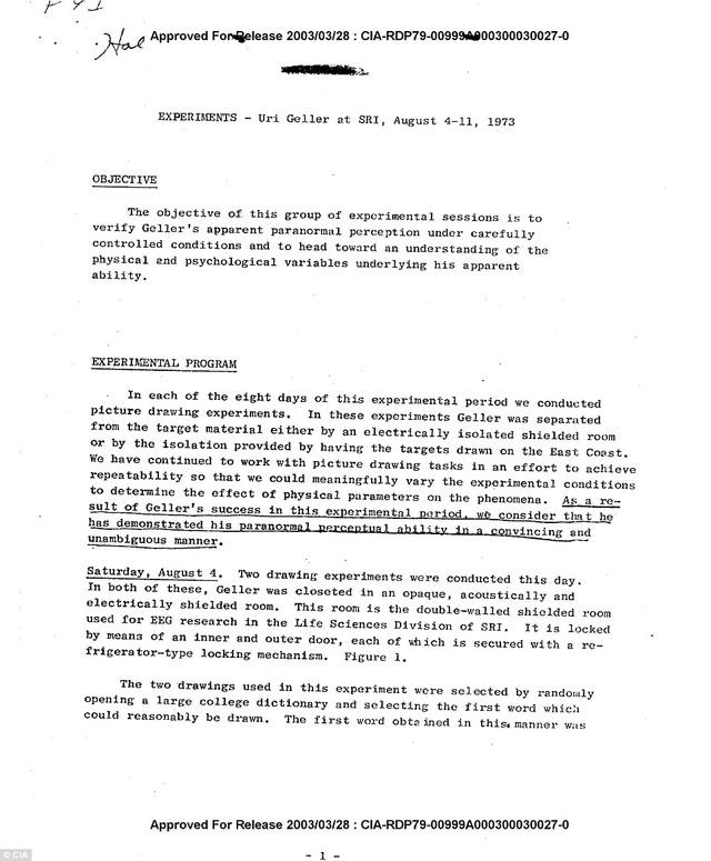 Tài liệu xác nhận của CIA.