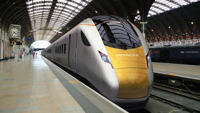 Đoàn tàu Hitachi 801 chạy trên tuyến đường sắt Great Western Main Line của Anh.