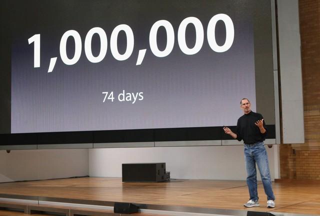 iPhone đã trở thành một siêu phẩm với việc bán ra 1 triệu máy chỉ trong vỏn vẹn có 74 ngày.