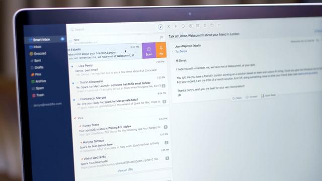 Giao diện ứng dụng Spark trên Mac