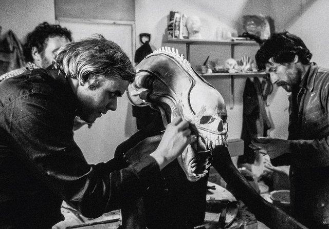 Hình mẫu con Xenomorph trong phim được tạo nên từ một chiếc sọ người thực.