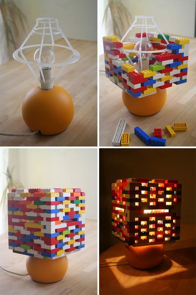 Chụp đèn LEGO, nhìn xa sẽ tưởng rằng đó là đèn pixel