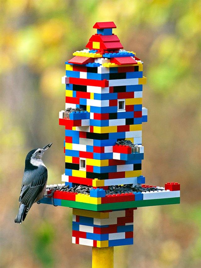 Máng cho chim ăn: đến người còn không chống lại được sự cám dỗ của LEGO, huống chi là... chim
