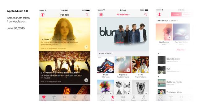 Giao diện Apple Music của Táo khuyết