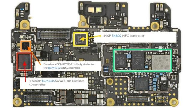 Các bộ phận hỗ trợ kết nối trên smartphone.