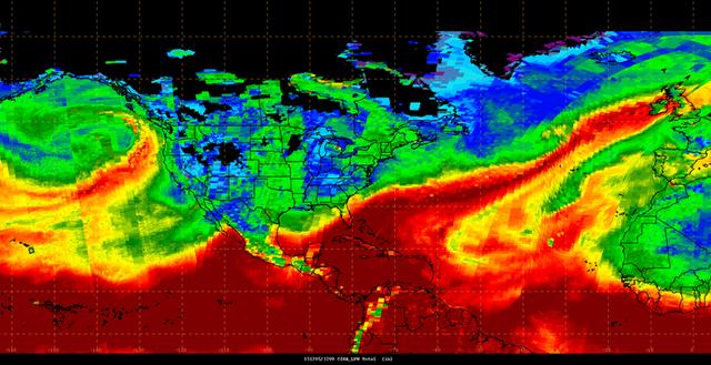 Sông khí quyển tấn công Tây Âu hồi năm 2015.