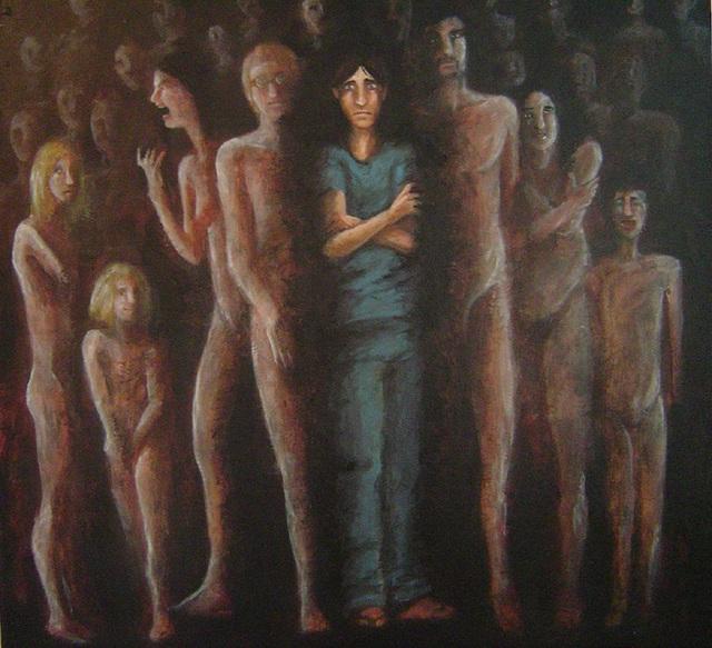 Bức hình mô tả một bệnh nhân đa tính cách.