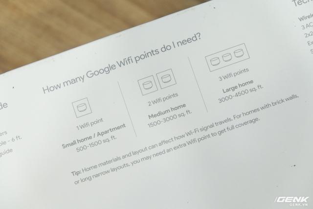 Khuyến cáo của Google về lượng access point cần thiết dựa trên diện tích phòng