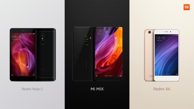 Ba chiếc smartphone được Xiaomi mang về Việt Nam dịp này