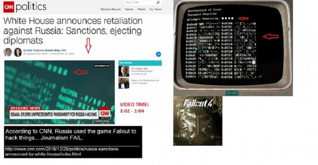 Hình ảnh của Fallout xuất hiện trong bản tin của kênh truyền hình CNN.