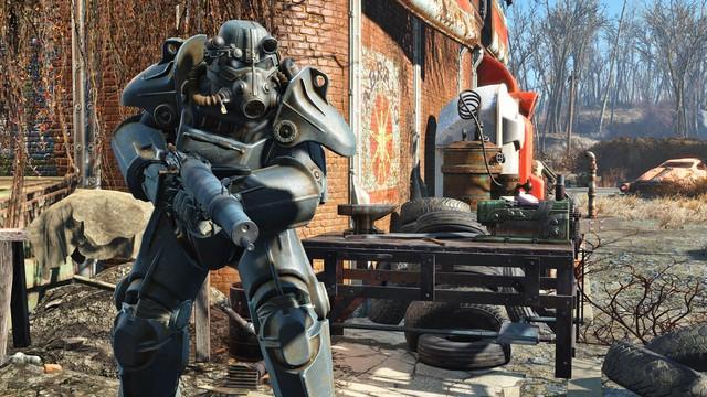 Một hình ảnh của Fallout 4 khi sử dụng bản patch High Resolution Texture Pack.