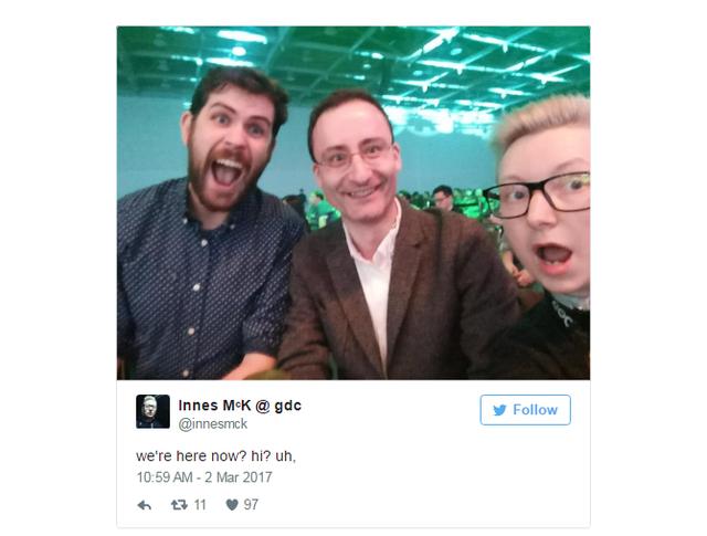 Khi đoàn Hello Games tới nơi thì sự kiện đã kết thúc.