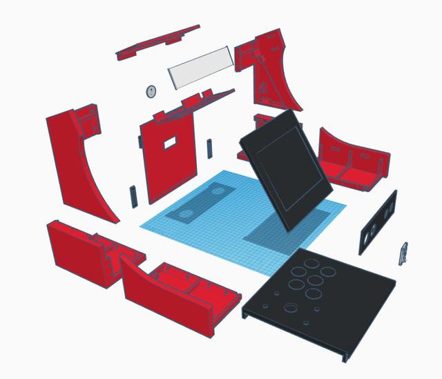 Thiết kế của máy game thùng phải được chia nhỏ để máy in 3D có thể thực hiện từng phần