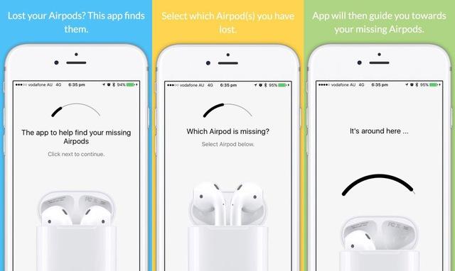 Ứng dụng Finder for AirPods giúp người dùng tìm AirPods khi đánh mất