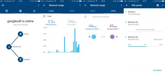 Quản lý kết nối Internet, các điểm kết nối wifi... 