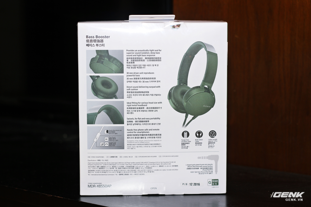 Thông số kĩ thuật của chiếc tai nghe này.