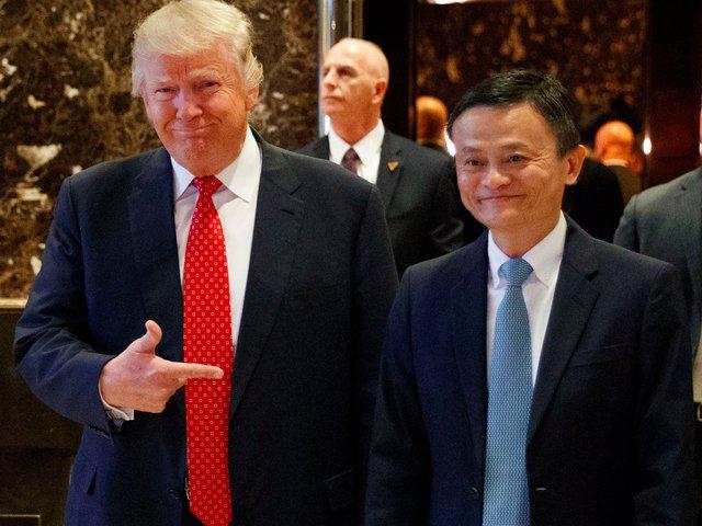 Trump và Jack Ma tại cuộc gặp đầu năm 2017
