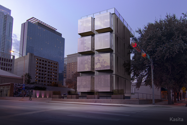 Các căn hộ của Kasita còn có thể chồng nên nhau tạo thành những ngôi nhà phức tạp hơn