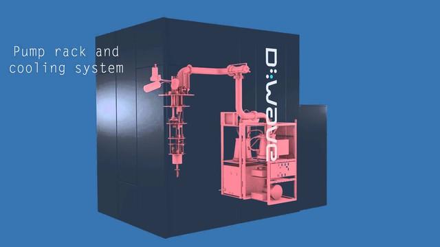 Máy tính lượng tử của D-Wave với hệ thống giảm chấn và làm lạnh bên trong.