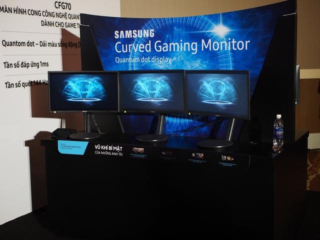 Màn hình CFG70 với nhiều công nghệ mới hỗ trợ tối đa cho game thủ.