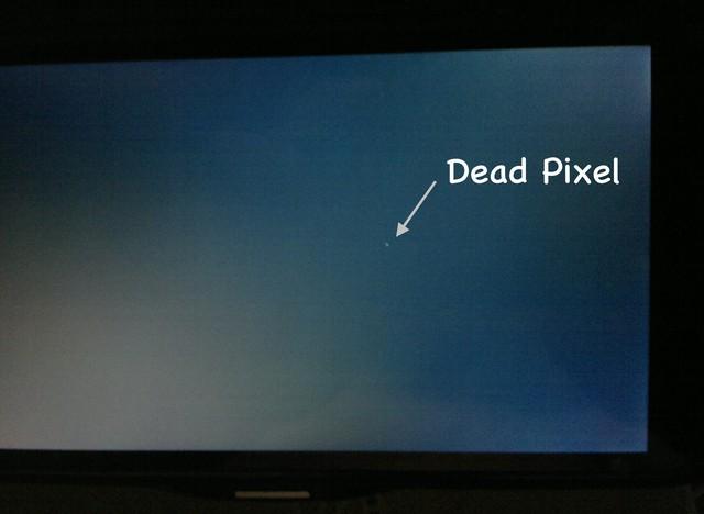 Lỗi điểm ảnh có thể gặp phải trên màn hình LCD.