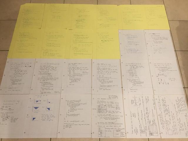 Code trên giấy để chuẩn bị cho các buổi phỏng vấn