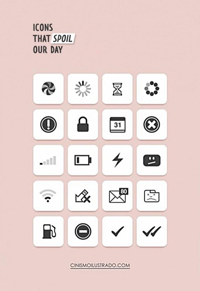 Những icon thể hiện đầy đủ một ngày tồi tệ của con người thế kỷ 21