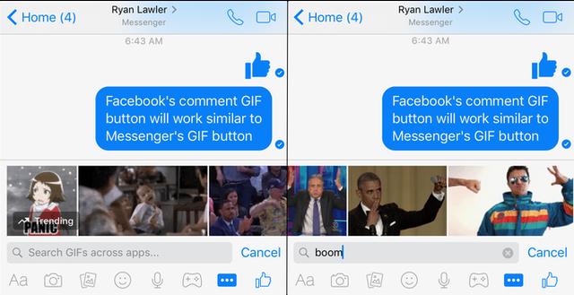 Tính năng gửi ảnh GIF trong Messenger
