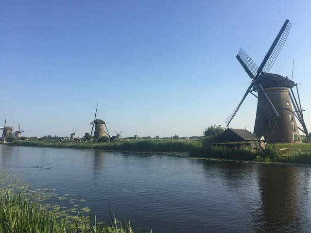 Di sản được UNESCO công nhận: những cối xay gió tại Kinderdijk.