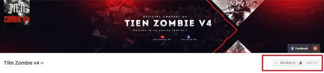 Kênh Youtube của Tiền Zombie V4 chính thức đạt 1 triệu lượt đăng ký