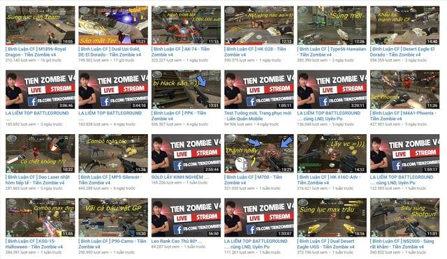 Mỗi tuần, Tiền ZombieV4 ra mắt hàng chục video đa dạng về nội dung, khủng về lượng view