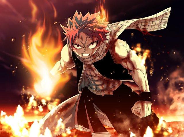 Được nuôi dạy bởi con rồng lửa để trở thành Sát Long Nhân, Natsu có khả năng hấp thụ mọi loại lửa thành sức mạnh của mình