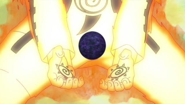 Sau khi Naruto kết hợp toàn diện với Cữu Vĩ, Naruto đã có thể sử dụng Bom Vĩ Thú như một loại vũ khí của riêng mình.