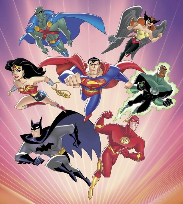 Hình ảnh thường thấy về đội sáng lập Justice League.
