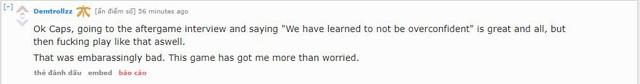 """Được rồi Caps, ra ngoài phỏng vấn và nói """"Chúng tôi đã học được một bài học lớn về việc tự tin thái quá"""", nhưng sau đó vẫn tiếp tục chơi như vậy. Thật đáng xấu hổ, game này có quá nhiều điều đáng lo ngại."""