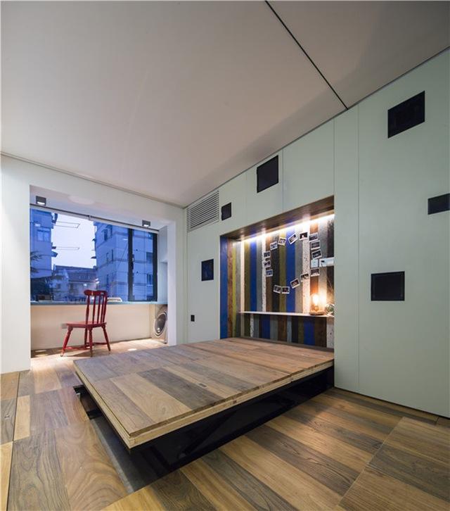 Ban ngày đây là sàn nhà nhưng ban đêm nó được dùng như giường ngủ, quá tiện lợi