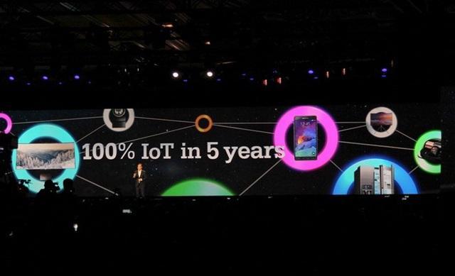 Mục tiêu của hãng là đến năm 2020, 100% thiết bị đều có chuẩn kết nối IoT.
