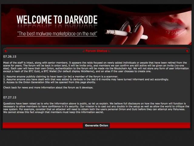 Hỡi những kẻ bắt chước Dark0de, diễn đàn mới của các người đã bị hack, và biện pháp bảo mật của ban quản trị quá tồi. - một lời nhắn để lại trên diễn đàn. Các hacker đã xóa toàn bộ các bài viết khác trên trang web.