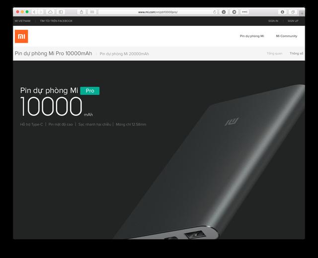 Pin dự phòng nhiều khả năng cũng sẽ là một sản phẩm được Xiaomi phân phối tại Việt Nam 