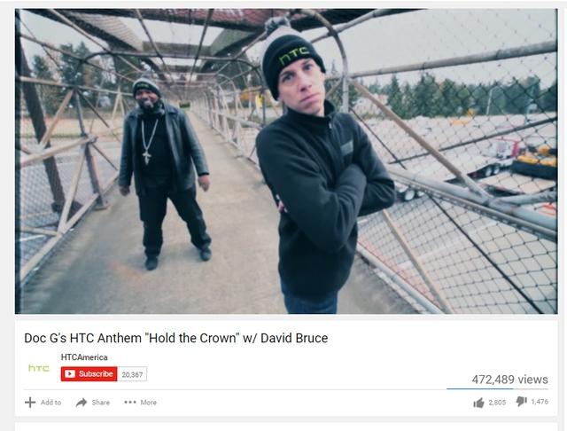HTC từng thử sức với nhạc rap, tuy nhiên kết quả không thật sự như hãng mong đợi. May là like vẫn nhiều hơn dislike