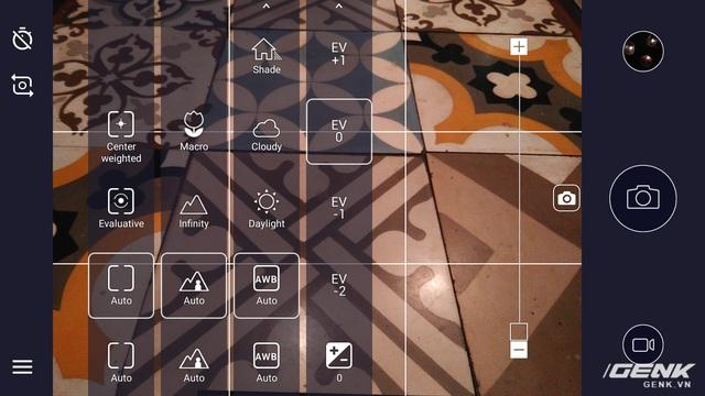 Nokia 6 cho phép người dùng chỉnh tay nhưng ở mức rất hạn chế