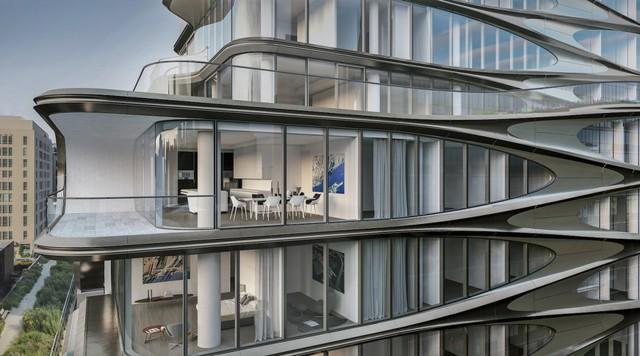 Tòa nhà 11 tầng sẽ có 40 căn hộ, trong đó có 2 căn penthouse cao cấp với chất liệu kính trong suốt từ trần đến sàn nhà trị giá 50 triệu USD.