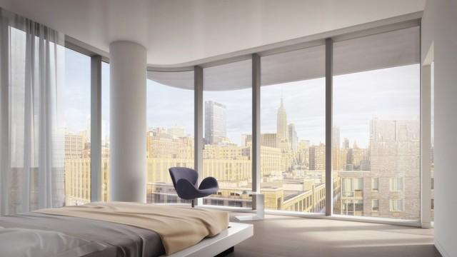 Mỗi căn hộ rộng từ 1.700 - 6.600 feet vuông với từ 2 đến 5 phòng ngủ. Trần nhà được thiết kế cao 10 feet