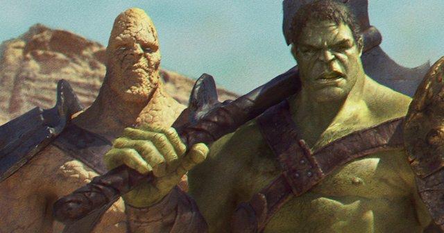 Korg và Hulk.