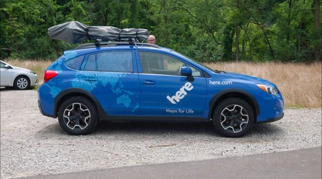Những chiếc xe lập bản đồ của Here.