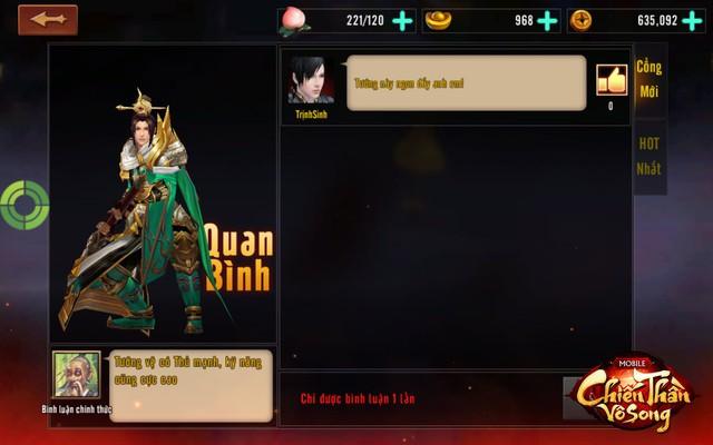 Không cần phải lên group hỏi nữa, chơi Chiến Thần Vô Song có ngay tính năng đánh giá tướng ingame - Ảnh 5.