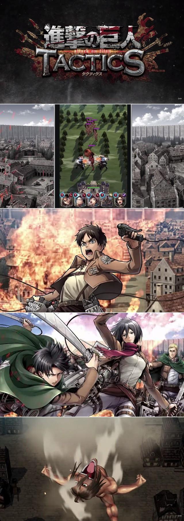 Game chiến thuật thẻ bài Attack on Titan Tactics sắp ra mắt ở Nhật - Ảnh 2.