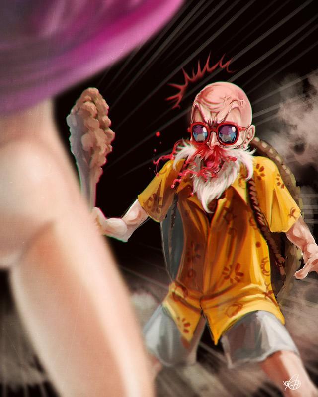 Xem bộ tranh fan art cực hài hước về quy lão Kame của Dragon Ball - Ảnh 5.